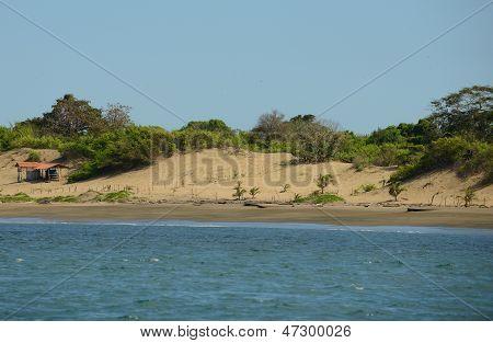 Sand Dunes On Ocean In Panama