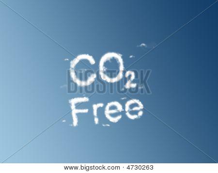 Co2 Free Clouds On A Blue Sky