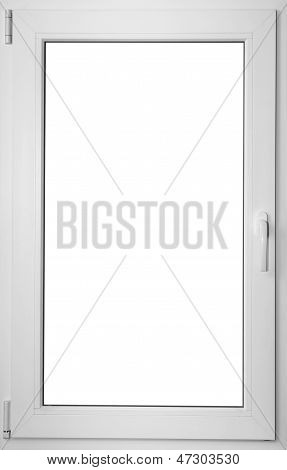 Colorized In White Fiberglass Window With Handle