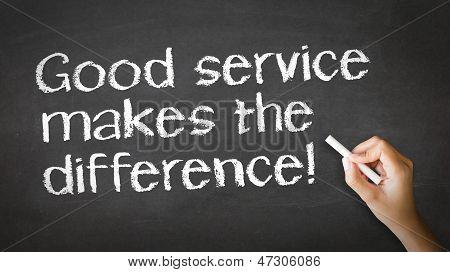 Bom serviço faz a diferença giz ilustração
