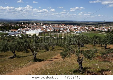 The town of Serpa is a sleepy hill top town in rural Alentejo Region, Portugal. poster