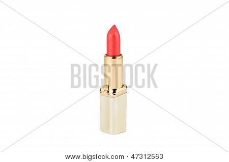 Red Lipstick In Gold Case