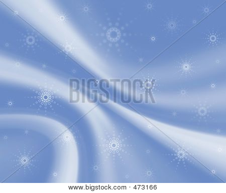Soft Blue Material. Snowflakes
