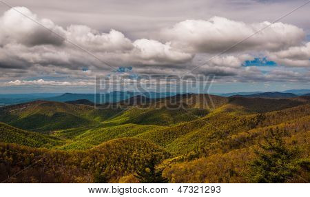 Clouds Over The Blue Ridge Mountains