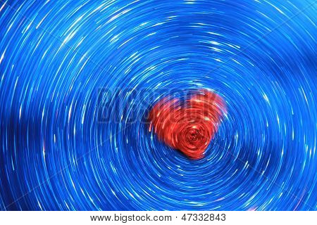 Love moves Galaxies - Abstract Art of Color and Beauty