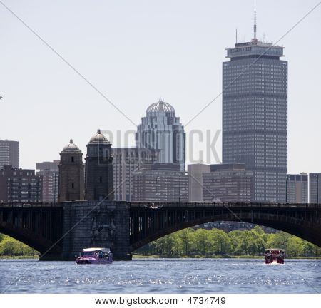 Boston Skyline From Charles River
