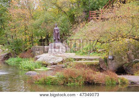Monument Of Famous Duchess Olga In Korosten, Ukraine