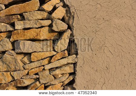 Wall Of Stones And Loam