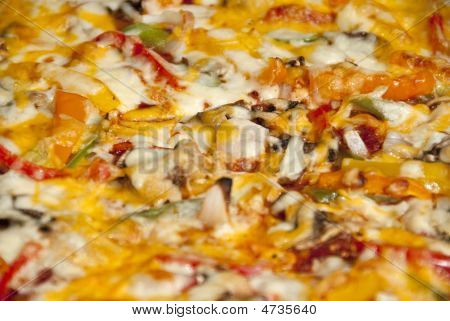 Pizza Background Low Depth Of Field