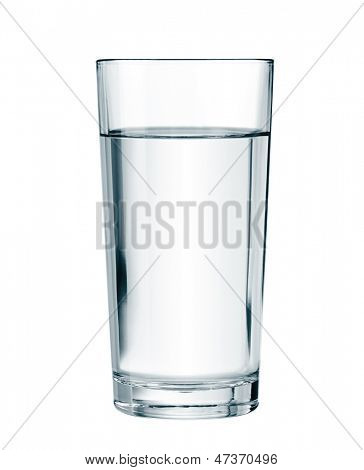 water glass isolated with clipping path included