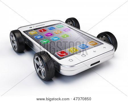 Smartphone on wheels