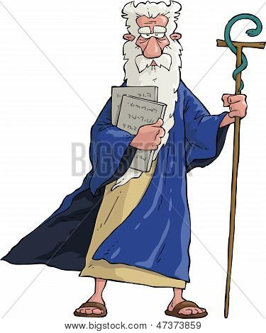 Cartoon Moses
