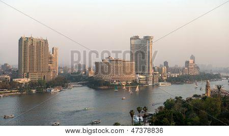 Sonnenuntergang von Cairo city