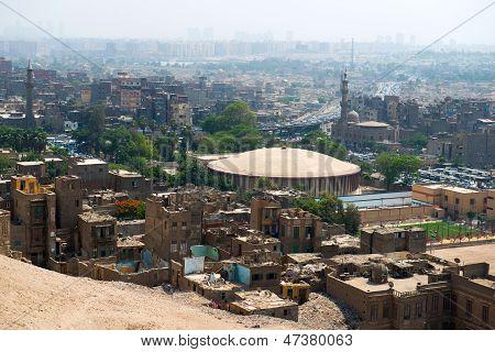 Blick auf Cairo slums