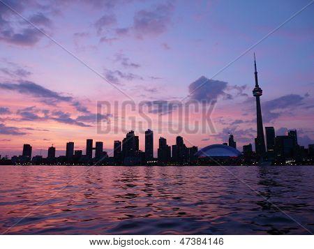 Toronto, Canada at sunset