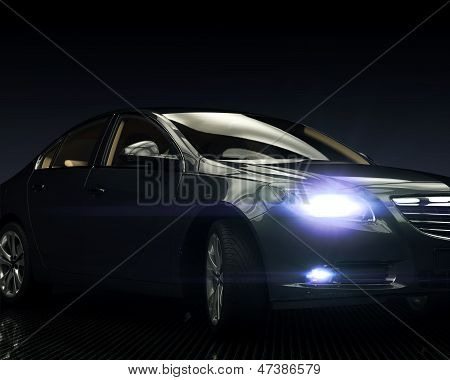 Black Car with Light