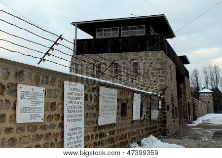 MAUTHAUSEN, AUSTRIA: DECEMBER 8, 2012. Mauthausen Holocaust Memorial; Mauthausen Concentration Camp