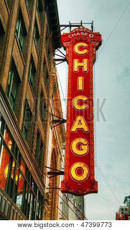 Чикаго театра неоновый знак