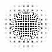 vector illustration of the dots - optical illusion - abstract background poster