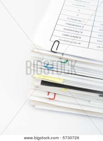 Paper Stack On White Background