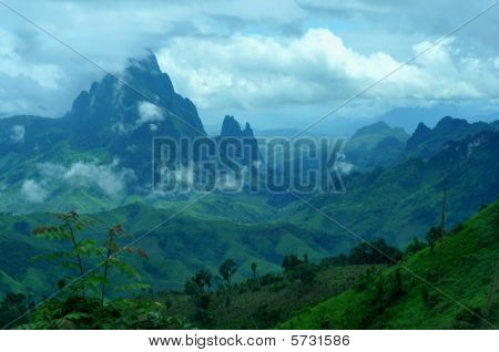 the beautiful,stunning landscape between vang vieng and luang prabang/laos.