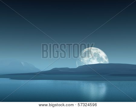 Big Moon Over Hills