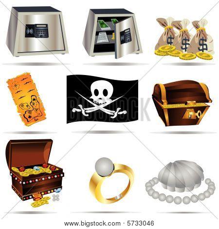 Treasure Icons Set