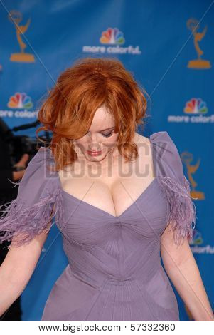 Christina Hendricks at the 62nd Annual Primetime Emmy Awards, Nokia Theater, Los Angeles, CA. 08-29-10