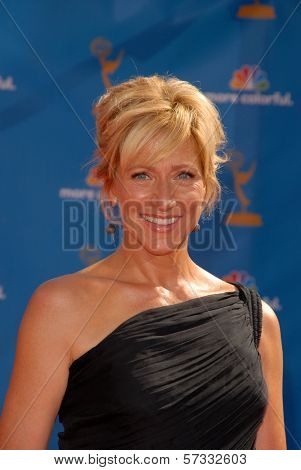 Edie Falco  at the 62nd Annual Primetime Emmy Awards, Nokia Theater, Los Angeles, CA. 08-29-10