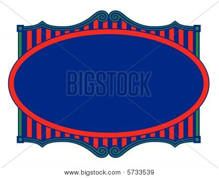 Circus Party Frame