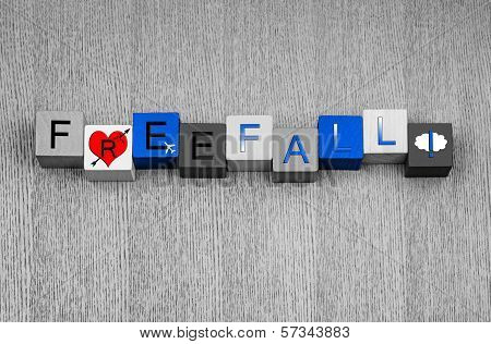 Love for Freefall, Sign Series For Extreme Sports, Parachuting And Skydiving