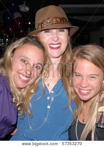 Amy Thompson, Jenise  Blanc and Evie Thompson at Jennifer Blanc-Biehn's Birthday Party, Sardos, Burbank, CA. 04-23-10
