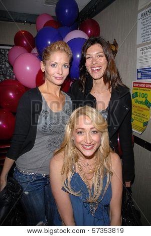 Jennifer Blanc-Biehn, Caitlin Keats and J.C. Brandy at Jennifer Blanc-Biehn's Birthday Party, Sardos, Burbank, CA. 04-23-10