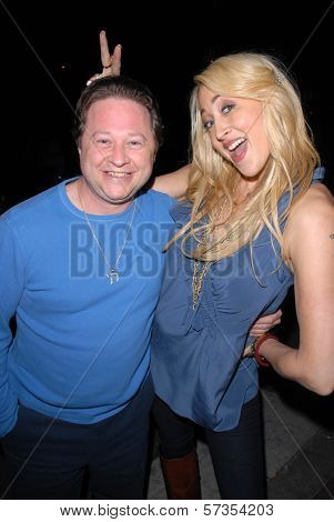 Scott Schwartz and Jennifer Blanc-Biehn at Jennifer Blanc-Biehn's Birthday Party, Sardos, Burbank, CA. 04-23-10