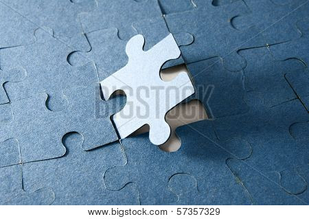 Last Piece Of Jigsaw Puzzle