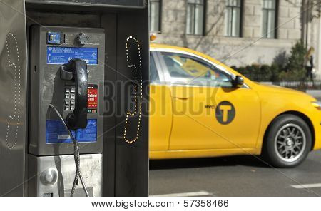 Pay Phone In New York