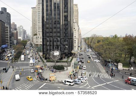 Looking North Up Broadway From Columbus Circle