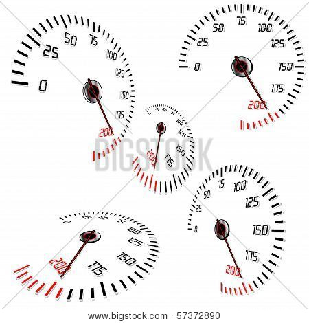 Abstract speedometers