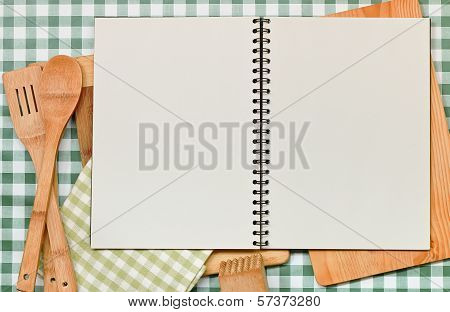 Recipe Backdrop Green Gingham