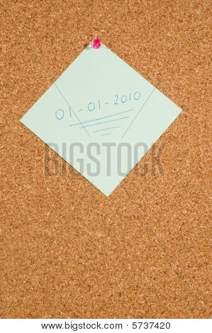 Memo Board With Message:01-01-2010