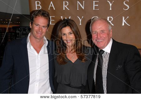 Rande Gerber, Cindy Crawford and Jerry Weintraub at a celebration of Jerry Weintraub's New Book