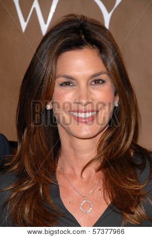 Cindy Crawford at a celebration of Jerry Weintraub's New Book