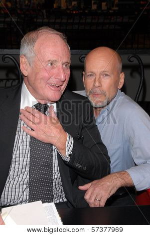 Jerry Weintraub and Bruce Willis at a celebration of Jerry Weintraub's New Book