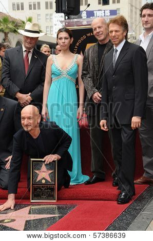 Sir Ben Kingsley, Daniela Lavender, Bruce Willis, Jerry Bruckheimer at the induction ceremony for Sir Ben Kingsley into the Hollywood Walk of Fame< Hollywood, CA. 05-27-10