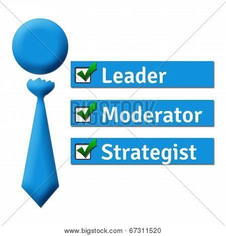 Leader Moderator Strategist