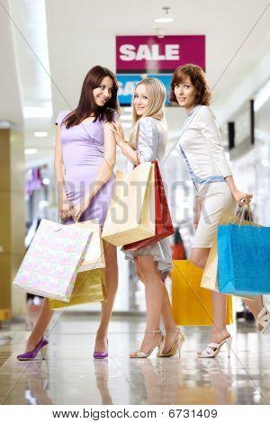 Girlfriends In Shop