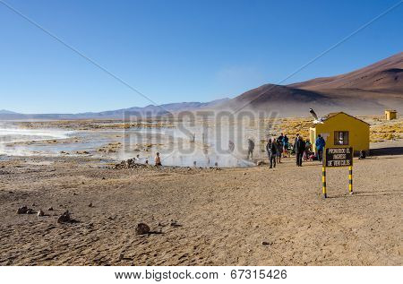 Termas de Polques at dawn, Sur L�pez Province, Bolivia