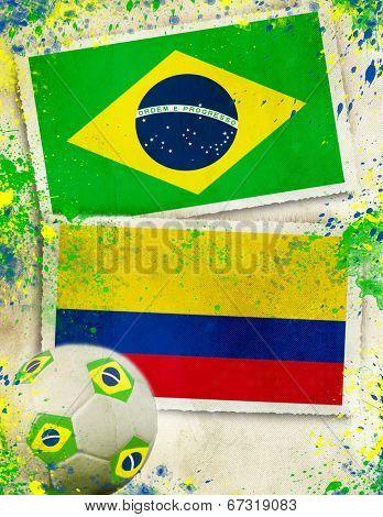 Brazil vs Columbia ball concept