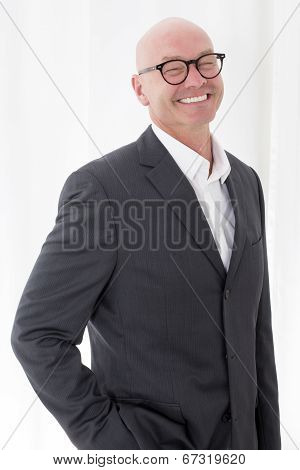 Man In A Suit With A Big Smile