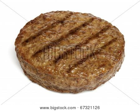 Grilled hamburger isolated